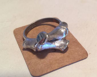 Sarah Coventry Vintage Silver Bamboo Ring