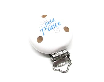Little Prince - white wooden clip