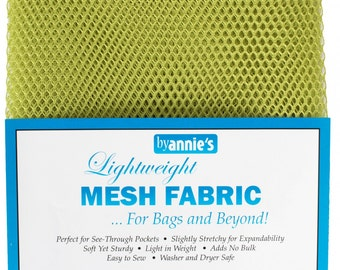 Mesh fabric Light Weight--18 inch x 54 inch Pocket Mesh Green Apple Green