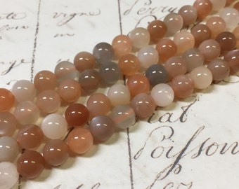 AA quality, Moonstone Beads, Round, 6mm, Mixed Color, Full strand