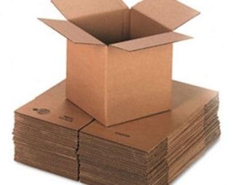 """10  4""""x4""""x4"""" Cardboard Boxes"""