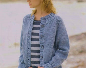Ladies Chunky Jacket, Easy & Quick Knit, Knitting Pattern. PDF Instant Download.
