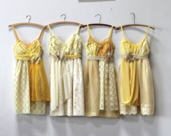 Custom Yellow Bridesmaids Dresses