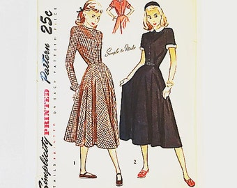 Simplicity 2286 | 40s Misses Dress Pattern | 40s Sewing Pattern