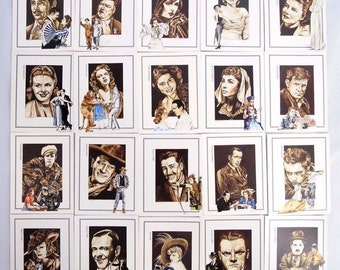 Vintage Legends of Hollywood Collectible Cards NEAR MINT Full Set of 20 1991