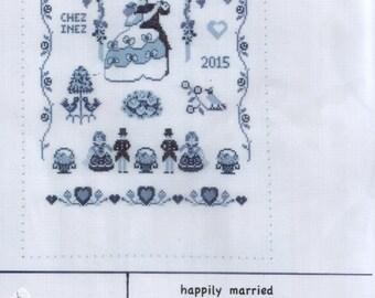 Delft blue Happily Married Wedding sampler kit