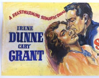 Vintage 1950's Movie  Lobby Card Original  Pulp Art  Cary Grant