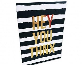 Greeting Card Hey you THNX Studio Stationery