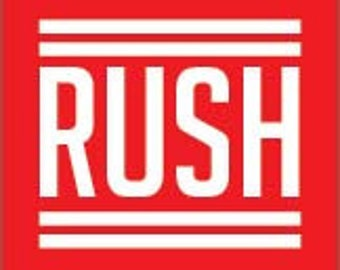 RUSH ORDER Add-On - 24 Hours rush production with standard shipping