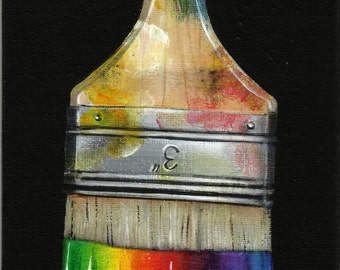 "5"" X 7"" ""Only God Can Paint A Rainbow"" Original Acrylic Painting"