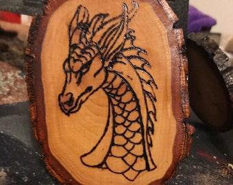 Dragon Wood Burning Wall Decoration