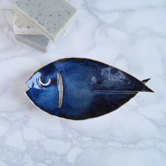 FISH soap dish, midnight
