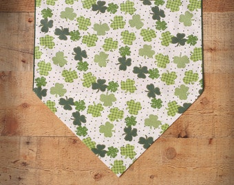 "St. Patrick's Day Table Runner, 36"" or 72"" St. Pat's Table Runner, Irish Home Decor"