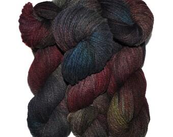 Hand dyed yarn - Alpaca / American wool yarn, Worsted weight, 240 yards - Huanca