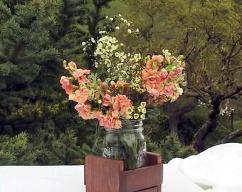 Rustic Wedding Center Piece - Wood - Rustic Wedding - Table Decoration