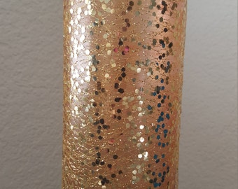 50th birthday 50th Anniversary Tall sparkle glittery gold vases  gold wedding centerpieces