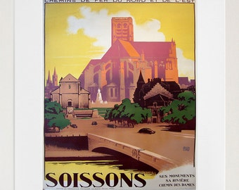 Art France Travel Print Siossons Vintage Poster (TR160)