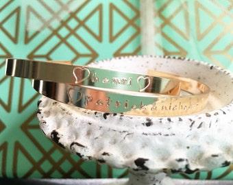 Engraveable 14k Gold Filled Cuff Bracelet // engraved bracelet // engraved jewelry  // gold cuff name bracelet // custom engraved jewelry