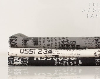 Fat Quarter Bundle Comma News, 3 Pieces, Brigitte Heitland, Zen Chic, Moda Fabrics, 100% Cotton Fabric