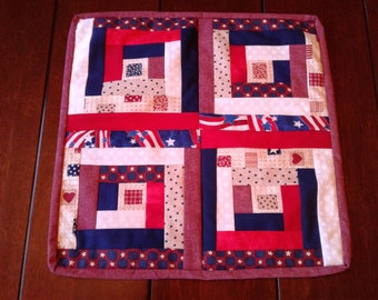 Square patriotic table runner