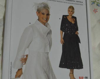 Burda 7632 Jacket or Stole Sewing Pattern - UNCUT - Size 18 20 22 24 26 28 30
