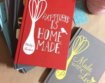 hand lettering custom recipe book personalized recipe book recipe book gift idea