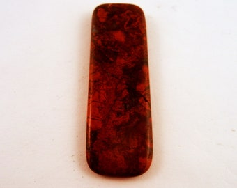 Red Jasper Pendant wire wrapping drilling Handmade