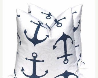 15% Off Sale Navy Pillow - Blue Pillow cover - Decorative Pillows - Accent Pillow - Cushion Covers - 16x16 Pillow - beach pillow, navy pillo