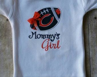 Chicago Bears Mommy's Girl Baby Shirt | bodysuit