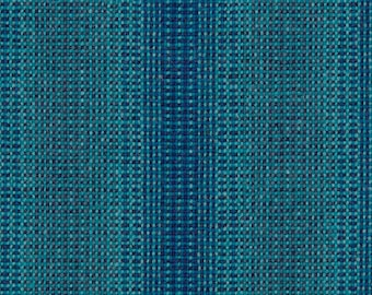 """Maharam Wool Striae - AQUA - pillow (both sides) 17"""" x 17"""" feather insert included"""