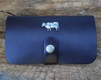 Dairy Cow Shotgun Choke Or Cartridge Brown Leather Case Farming Gift