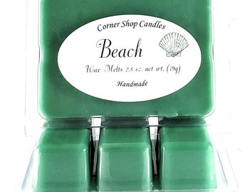 Beach Scented Wax Melts. Scented Wax, 6 cube pack. Wickless candle wax