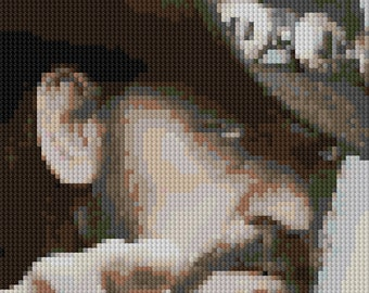 portrait of Lemmy Kilmister counted Cross Stitch Pattern Motorhead