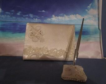 Beach wedding shell guest book