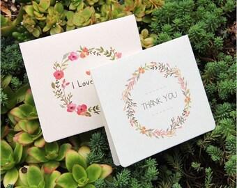 Thank you Merci + card envelope