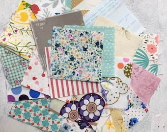 Random fun prints cotton charm pack 2.5 inches by 2.5 inches