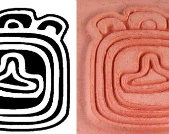Mayan Glyph Codex Stamp #1 Design Tool for PMC Clay - Ceramic Clay - Polymer Clay - Textile Stamp - Scrap Booking Stamp - Mayan Glyph Codex