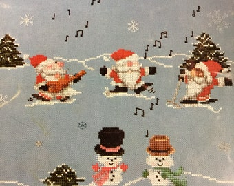 Merry Ho Ho counted cross stitch pattern book