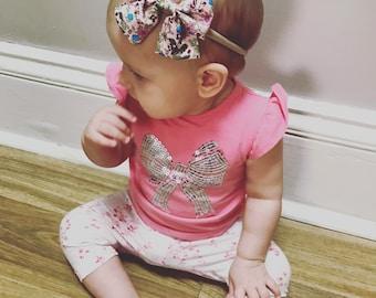 Baby girl headband, bow headband