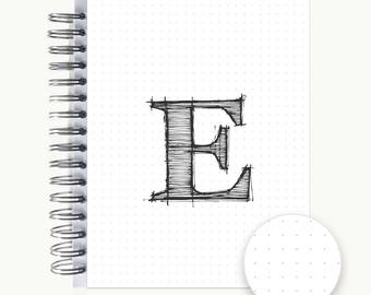 Address and/or Password Book – Personalized   Spiral   Business   Contacts   Gifts   Dot Grid Monogram