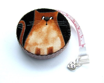Tape Measure with Curious Cat Measuring Tape