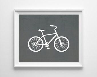 Bicycle Print, Bike Print, Bicycle Wall Art, Minimal Bike Printable, Gift for Him, Bike Printable, Bicycle Poster, Instant Download