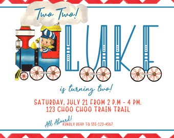 Choo Choo Party Printable Invitation