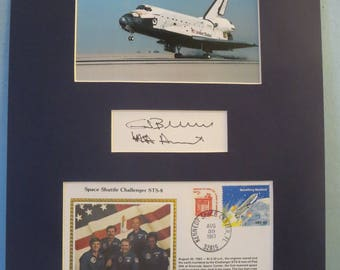 NASA -1983 - The First African American in space - Astronaut Guion Bluford on Space Shuttle Challenger STS-8 & his autograph