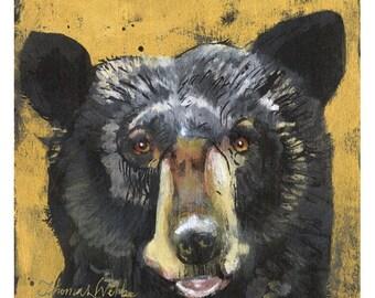 Easy(Fine Art Print not a real Black Bear)
