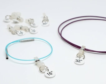 Größe-ID-Bänder für austauschbare Kabel (Satz von 2, 3, 4 oder 5)