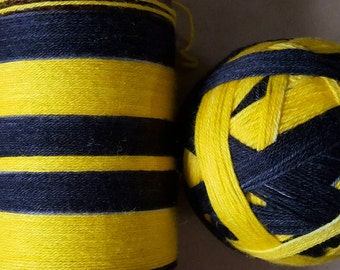 DYED TO ORDER: Hand Dyed Self Striping Sock Yarn ~ House Colors - Yellow and Black