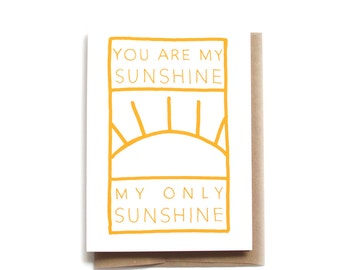 My Sunshine Card | Card for Daughter | Card for Son | Just Because Card | Card for Friend | Valentines Card | Love Card | Sunshine of Love