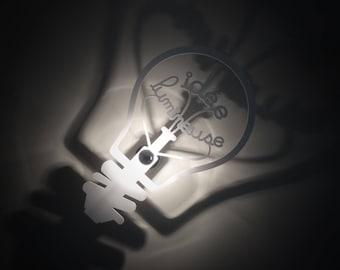 Designer light bulb idea applique