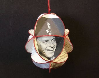 Frank Sinatra Album Cover Ornament Made Of Record Jackets